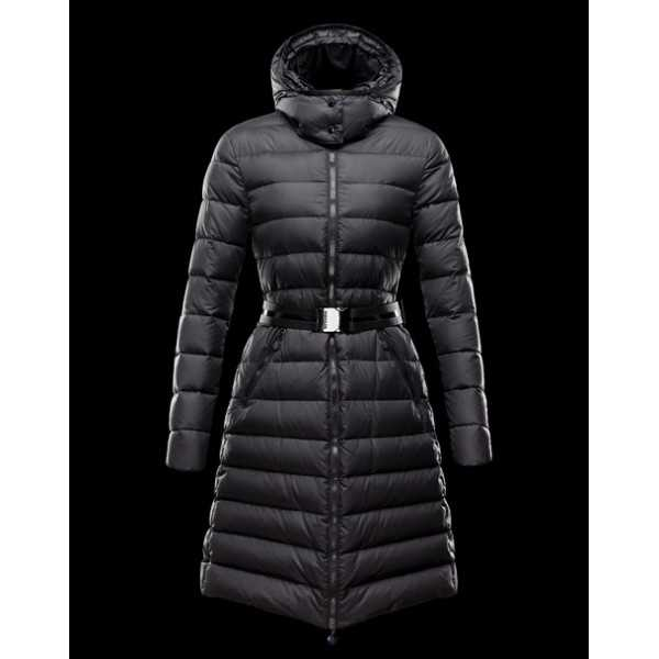 Moncler Jackets Women Long MokaCine Black