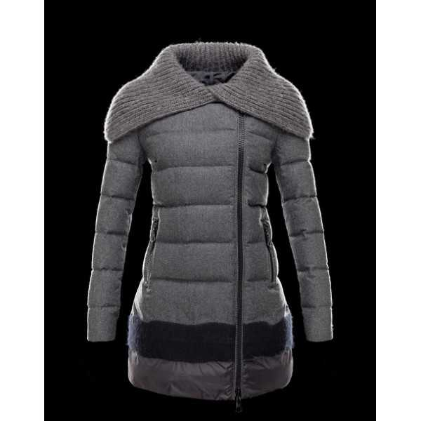 Moncler Jackets Women Long Ocelot Grey