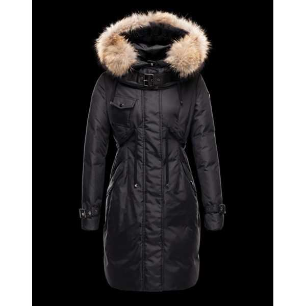 Moncler Jackets Women Long Phalangere Black