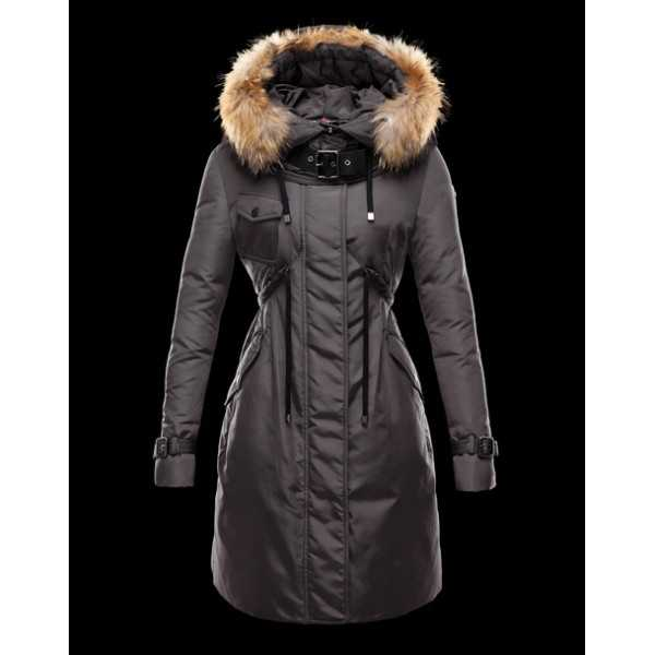 Moncler Jackets Women Long Phalangere Grey