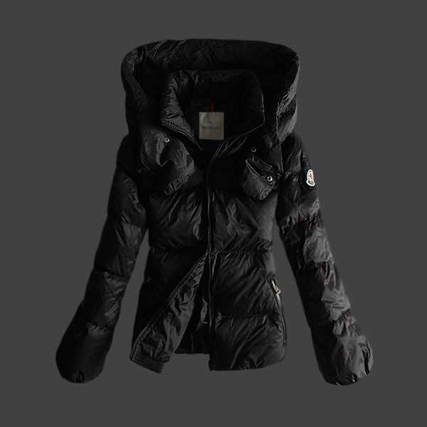 Moncler Jackets Women Short Black Sale
