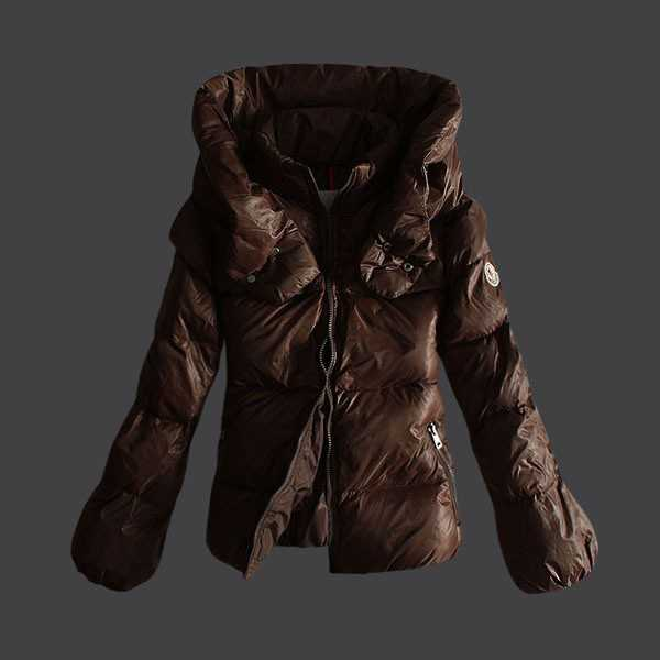 Moncler Jackets Women Short Coffee