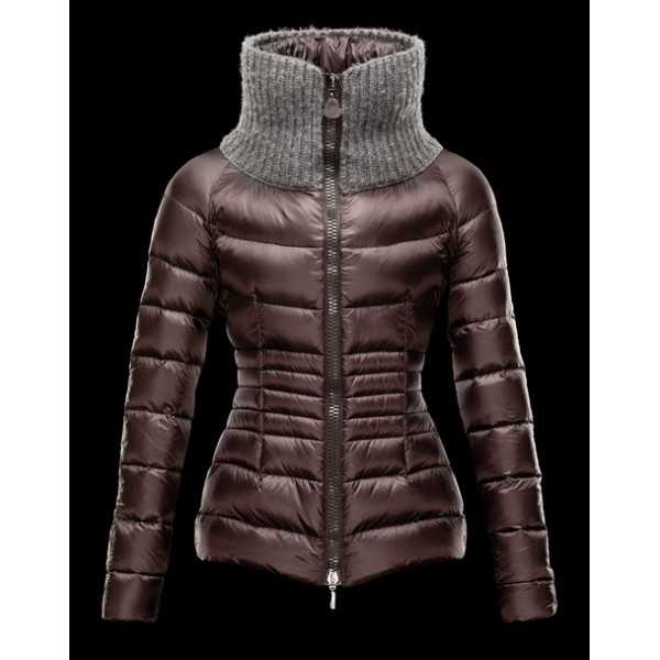Moncler Jackets Women Short Pelade Dark Brown