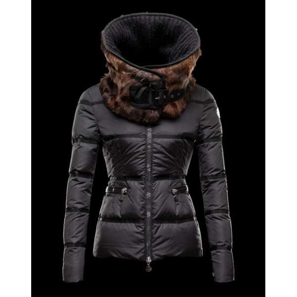 Moncler Jackets Women Vison Black