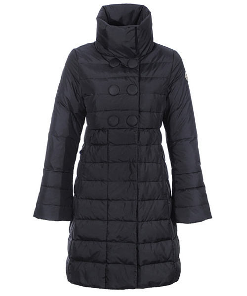 Moncler Johanna Coats Down Women Black Stand Collar