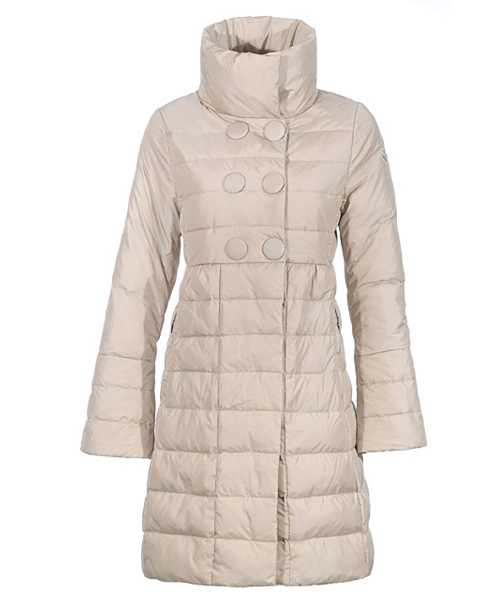 Moncler Johanna Coats Down Women white Stand Collar