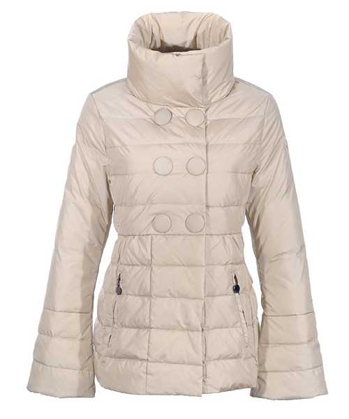 Moncler Johanna Featured Jackets Women Slim Stand Collar White