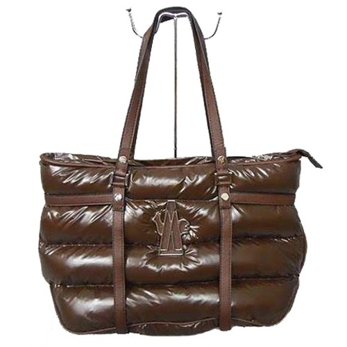 Moncler Large Coffee Handbag