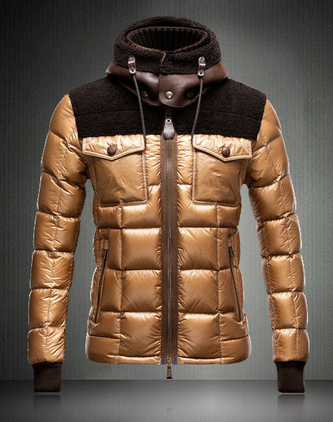 Moncler Lazare Down Jacket Men Short Khaki