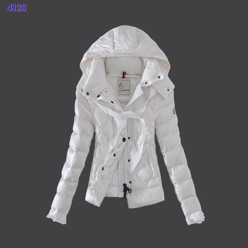 Moncler Leisure Womens Down Jackets White