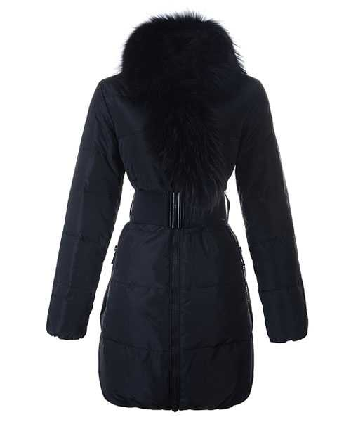 Moncler Lievre Women Coat Designer Long Black