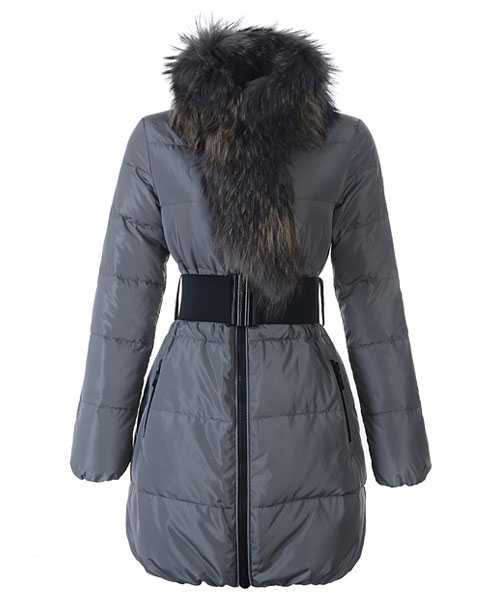 Moncler Lievre Women Coat Designer Long Gray