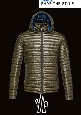 Moncler Lionel Mens Down Jackets Zip Hooded Army Green