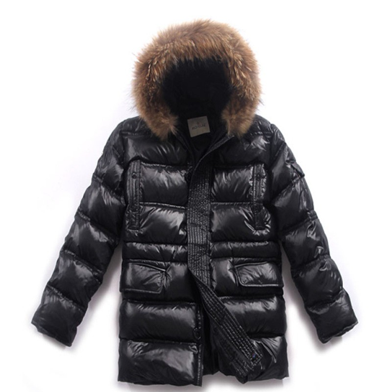 Moncler Long Black Coat Men