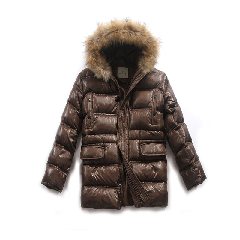 Moncler Long Brown Coat Men