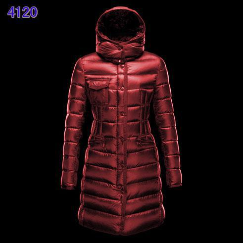 Moncler Long Coats For Women Red Red
