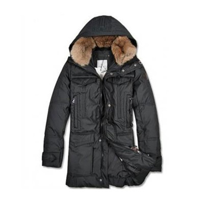 Moncler Long Down Black Coat Men