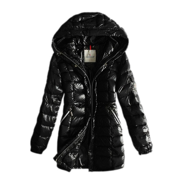 Moncler Long Down Black Coat Women