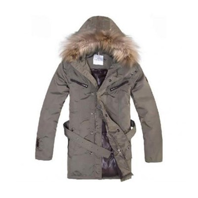 Moncler Long Down Brown Coat Men