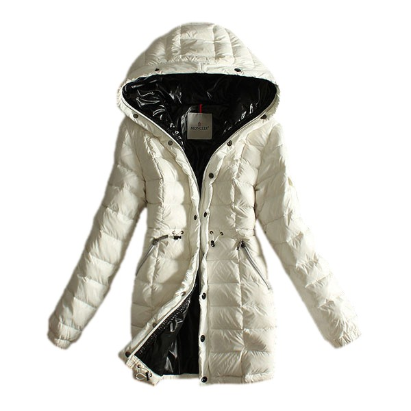 Moncler Long Down White Coat Women