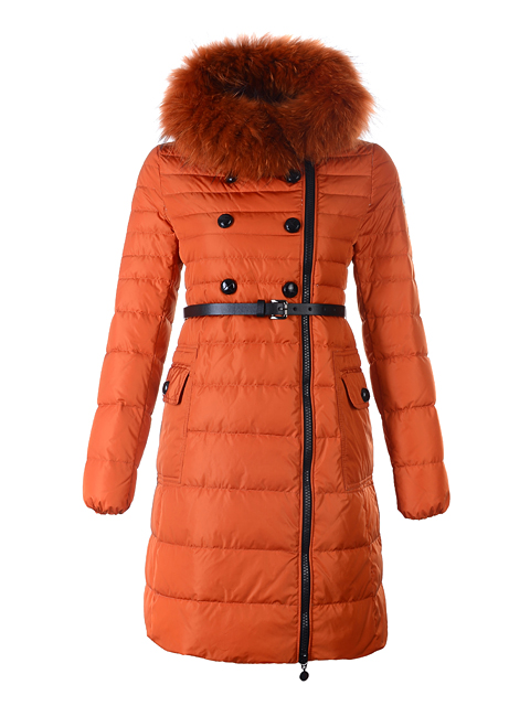 Moncler Long Down Women Jacket Herisson Fur Collar Ora