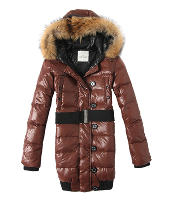 Moncler Long Coat Lucie Female Coffee