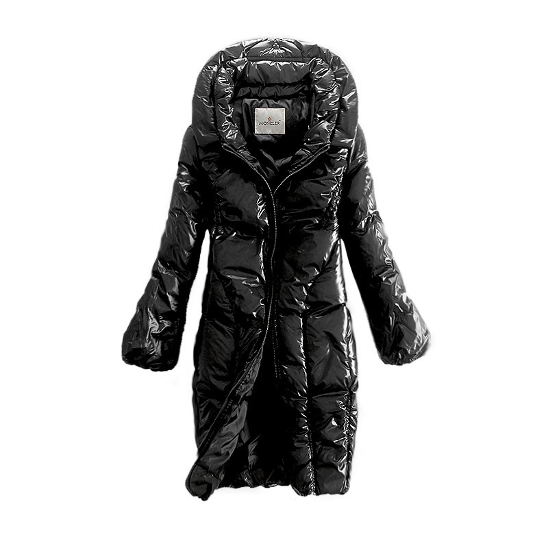 Moncler Long Puff Black Coat Women