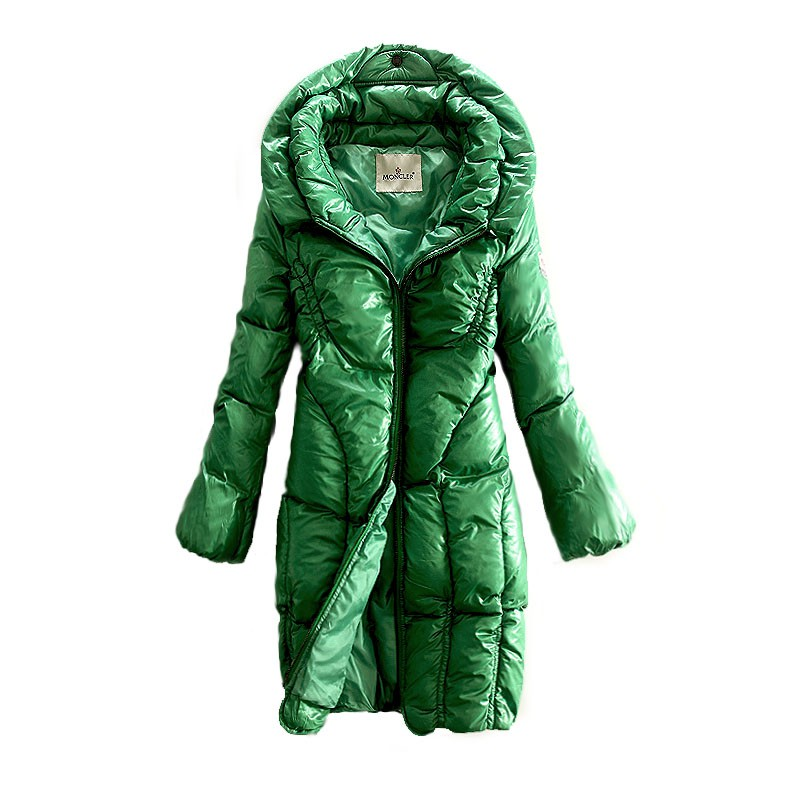 Moncler Long Puff Green Coat Women