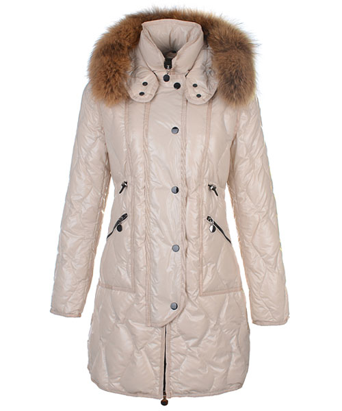 Moncler Lontre Designer Coat For Women Apricot