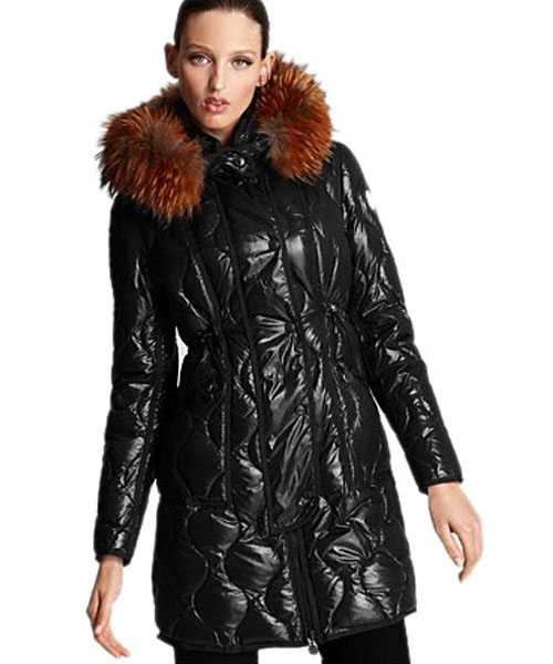 Moncler Lontre Designer Coat For Women Black