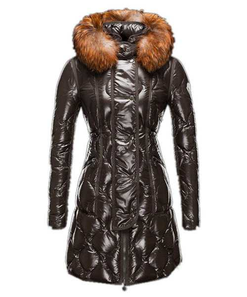 Moncler Lontre Designer Coat For Women Dark Green