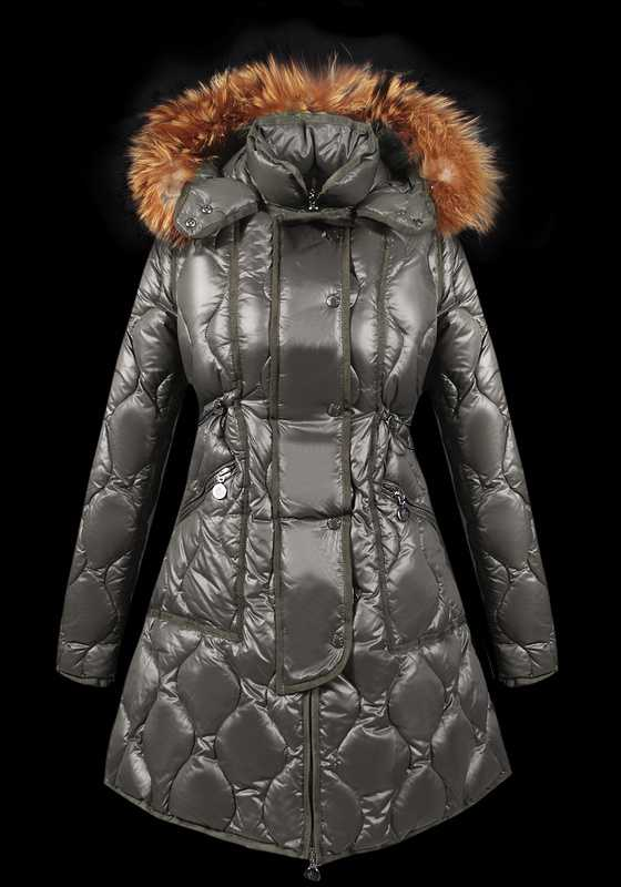 Moncler Lontre Designer Coat For Women Grey