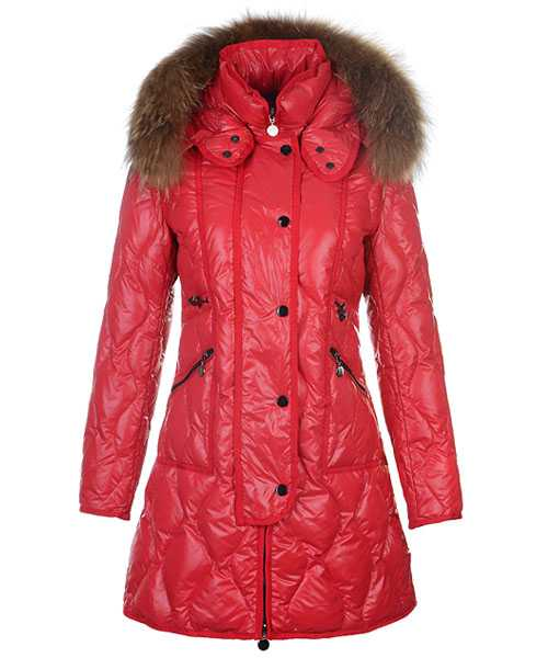 Moncler Lontre Designer Coat For Women Red