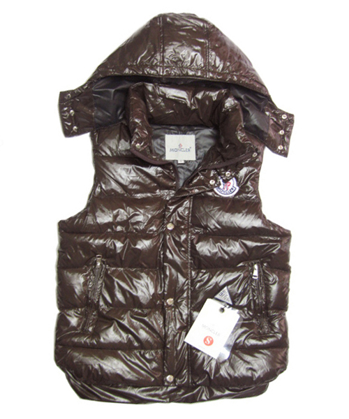 Moncler Lovers Of Men Vest Sleeveless Single-Breasted Coffee