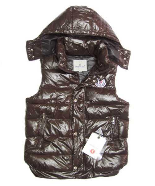 Moncler Lovers Of Mens Vest Sleeveless Single Breasted Coffee
