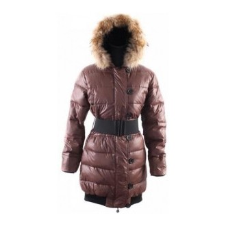 Moncler Lucie Pop Star Down Liver Coat Women