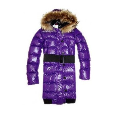 Moncler Luice Pop Star Long Down Dark Purple Coat Women