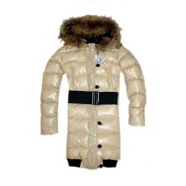 Moncler Luice Pop Star Long Down White Coat Women