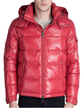 Moncler MAYA Down Jacket Mens Short Jacket Hat Red