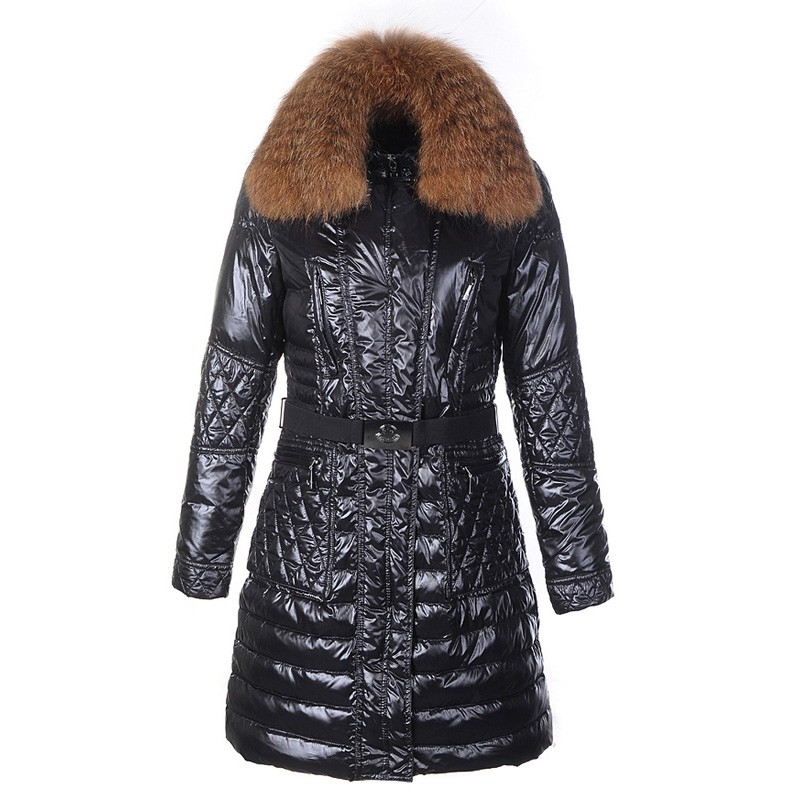 Moncler Maillol Belted Down Black Coat Women