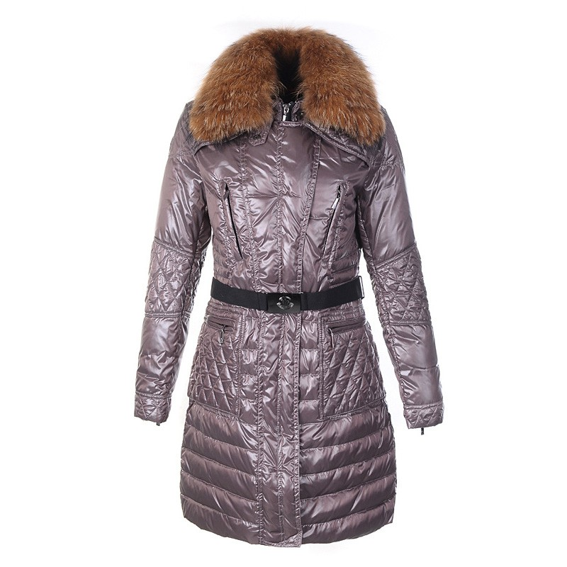Moncler Maillol Belted Down Purple Coat Women
