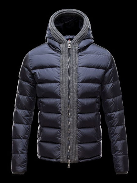 Moncler Coat Men Down Coat Canut Hoodies Blue