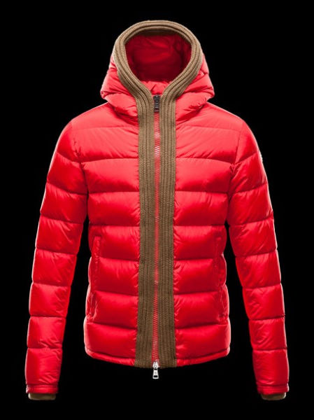 Moncler Coat Men Down Coat Canut Hoodies Red