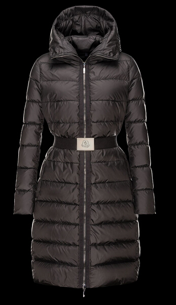 Moncler Women's Winter Coat FABRE Long Hooded Jacket Beige