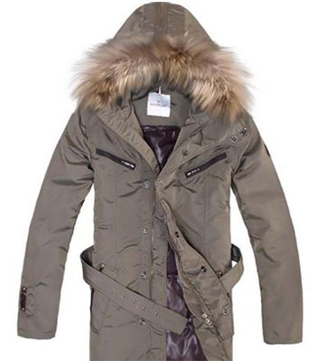 Moncler Men's Parka Hooded Jacket brown