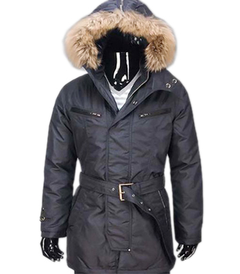 Moncler Men's Parka Hooded Jacket Black