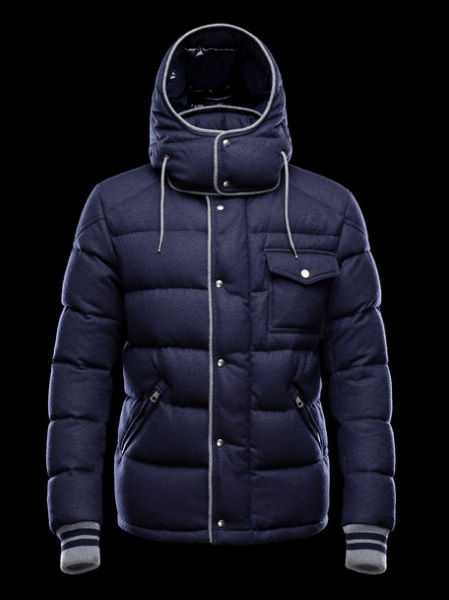Moncler Men's Coats Bresle Hooded Jacket Blue