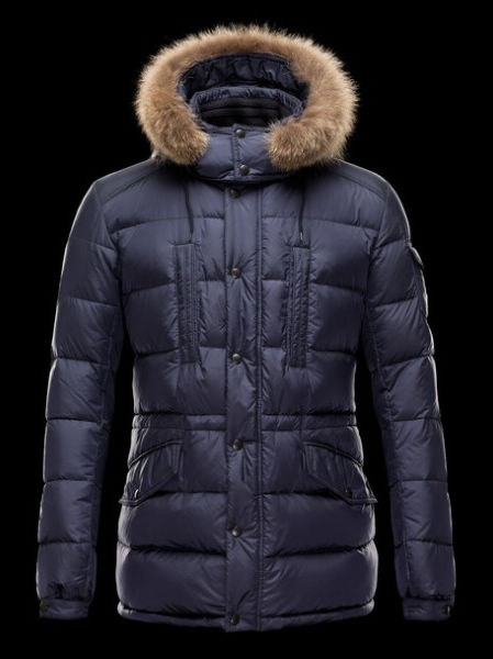 Moncler Men's Winter Coats Men's Fur Hooded Jackets
