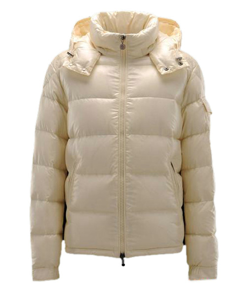 Moncler Maya Winter Mens Down Jacket Fabric Smooth Beige