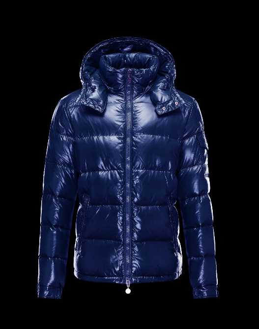 Moncler Maya Winter Mens Down Jacket Fabric Smooth Blue